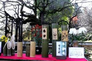 23日(水・祝)、26日(土)、27日(日)の 「竹灯籠と紅葉鑑賞の宵(ライトアップ)」時に点灯する手作りの灯籠です。(他にも沢山用意しています)